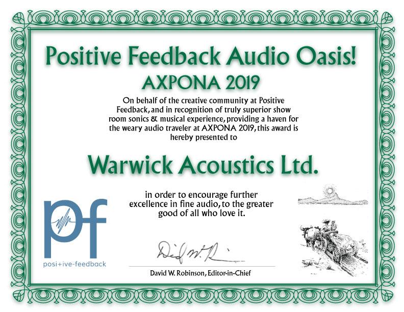 Positive Feedback Audio Oasis! Axpona 2019